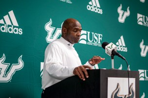 114 - USF vs S.C. State 2019 -Coach Charlie Strong by David Gold DRG01787