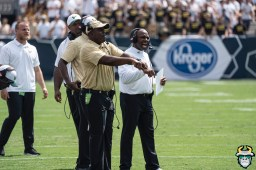 133 - USF vs Georgia Tech 2019 - Charlie Strong Brian Jean-Mary by David Gold - DRG09899