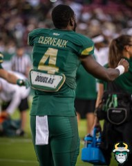 18 – Wisconsin vs USF 2019 – USF WR Stanley Clerveaux by David Gold – DRG04666