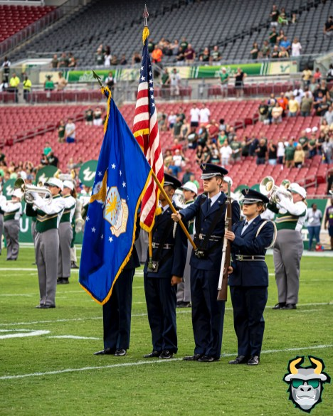 24 - USF vs S.C. State 2019 - American Flag by David Gold DRG09647