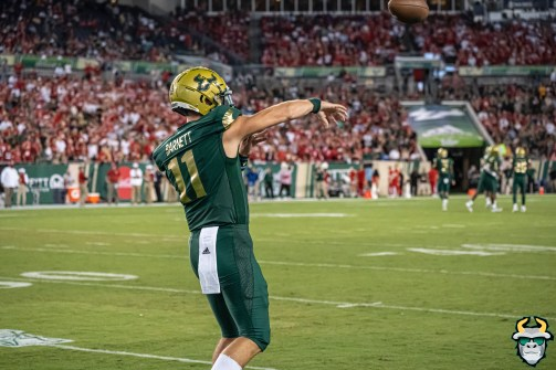 32 – Wisconsin vs USF 2019 – QB Blake Barnett by David Gold – DRG05311