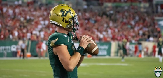 40 – Wisconsin vs USF 2019 – QB Blake Barnett by David Gold – DRG05315
