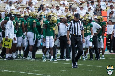 63 - USF vs Georgia Tech 2019 - Mike Hampton Charlie Strong Greg Reaves Bentlee Sanders by Matthew Manuri - IMG_1842