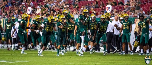 82 - USF vs S.C. State 2019 - KJ Sails Nick Robrts USF Defense by David Gold DRG01133