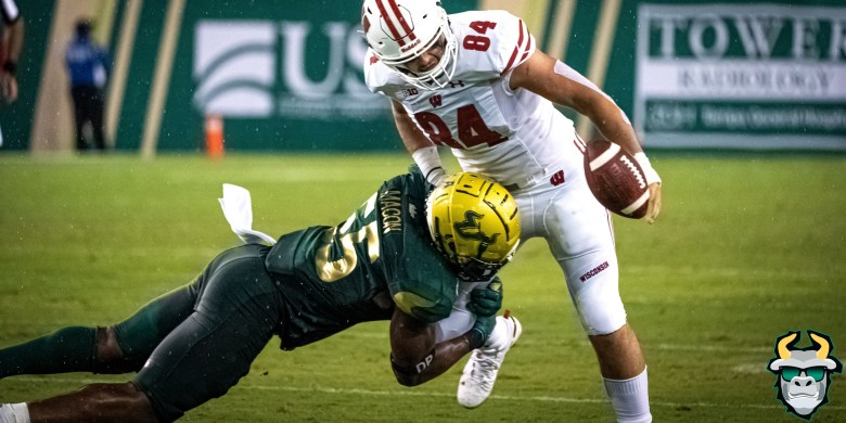 Wisconsin vs. USF Football 2019 Photo Album ReCap - LB Patrick Macon | SoFloBulls.com
