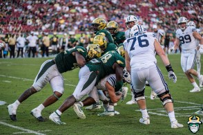103 - BYU vs USF 2019 - Blake Green Darius Slade Sack by David Gold - DRG01265