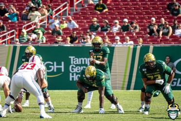 64 - SMU vs USF 2019 - Jordan McCloud Demetris Harris Donovan Jennings by David Gold - DRG00611