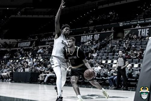 11 - St. Leo vs South Florida Men's Basketball 2019 - Michael Durr B&W by David Gold - DRG02752