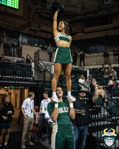 21 - St. Leo vs South Florida Men's Basketball 2019 - Cheerleader Alexis by David Gold - DRG03021