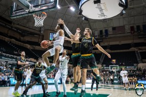 25 - St. Leo vs South Florida Men's Basketball 2019 - David Collins Hang Time at Rim by David Gold - DRG03054