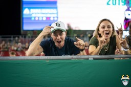 34 - Temple vs. USF 2019 - Tampa Bay Fan in Stands by David Gold - DRG05529