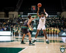 40 - St. Leo vs South Florida Men's Basketball 2019 - B.J. Mack by David Gold - DRG03424