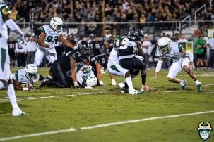 43 - USF vs. UCF 2019 - Vincent Davis Jr Nick Roberts Adrian Killins Pano by David Gold - DRG05804