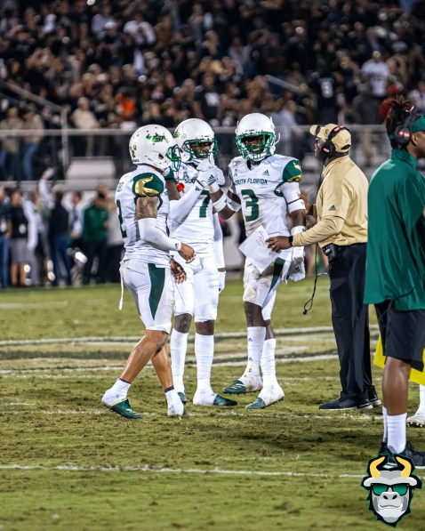 80 - USF vs. UCF 2019 - Vincent Davis Jr Mike Hampton Nick Roberts by David Gold - DRG06621