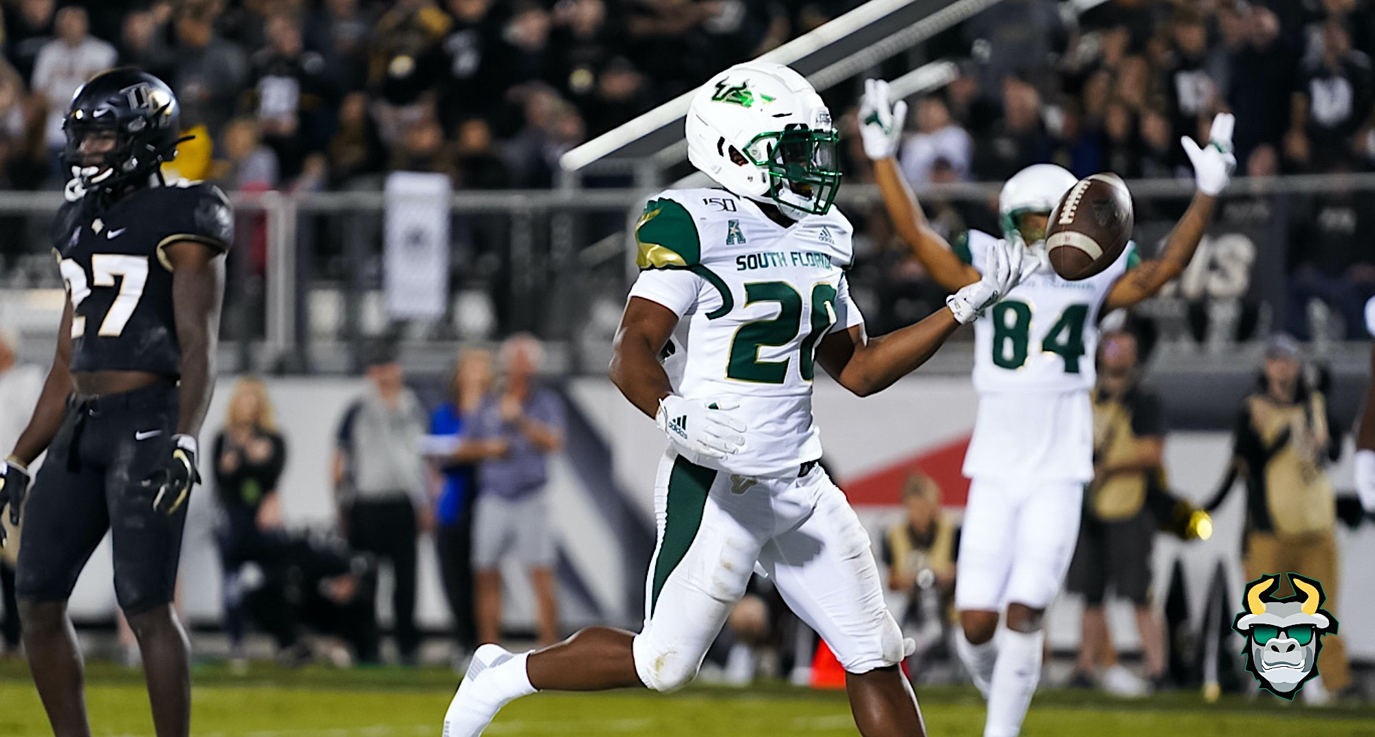 USF RB Johnny Ford's one yard touchdown run vs. UCF 2019 at Spectrum Stadium in Orlando, FL on November 29, 2019 by David Gold | SoFloBulls.com