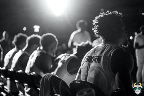 1 - UConn vs. South Florida Men's Basketball 2020 - Justin Brown B&W - DRG08441