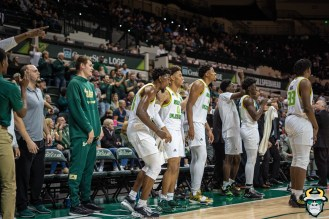 26 - UConn vs. South Florida Men's Basketball 2020 - Bulls Team cheers from the bench - DRG09050