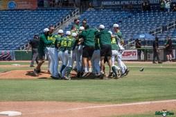 129 USF vs UCF Baseball Bulls Team Celebrating 2021 AAC Championship DRG00925