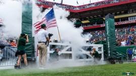 31 Florida vs USF 2021 - Bulls Team Coming out of Smoke Tunnel DRG01252 Edit