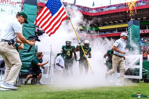 33 Florida vs USF 2021 - TJ Robinson Christian Williams Coming out of Smoke Tunnel DRG01271 Edit