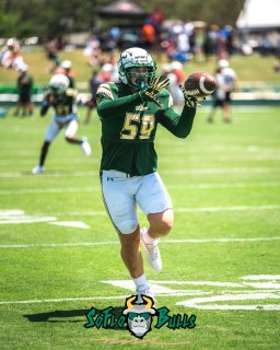 28 - USF Spring Game 2018 - USF LB Andrew Mims by Dennis Akers - SoFloBulls.com (4016x5020)