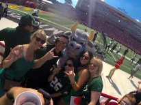 USF vs Maryland 2015 with Rocky The Bull Photo