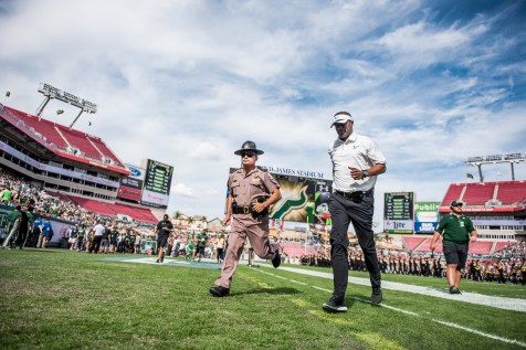 65 - USF vs. UCF 2016 - USF HC Willie Taggart jogs off the field #WarOnI4 by Dennis Akers | SoFloBulls.com (5767x3850)