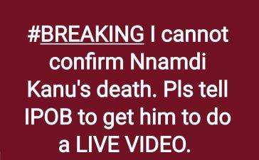 Nnamdi Kanu is dead? Kemi Olunloyo says He's Alive!