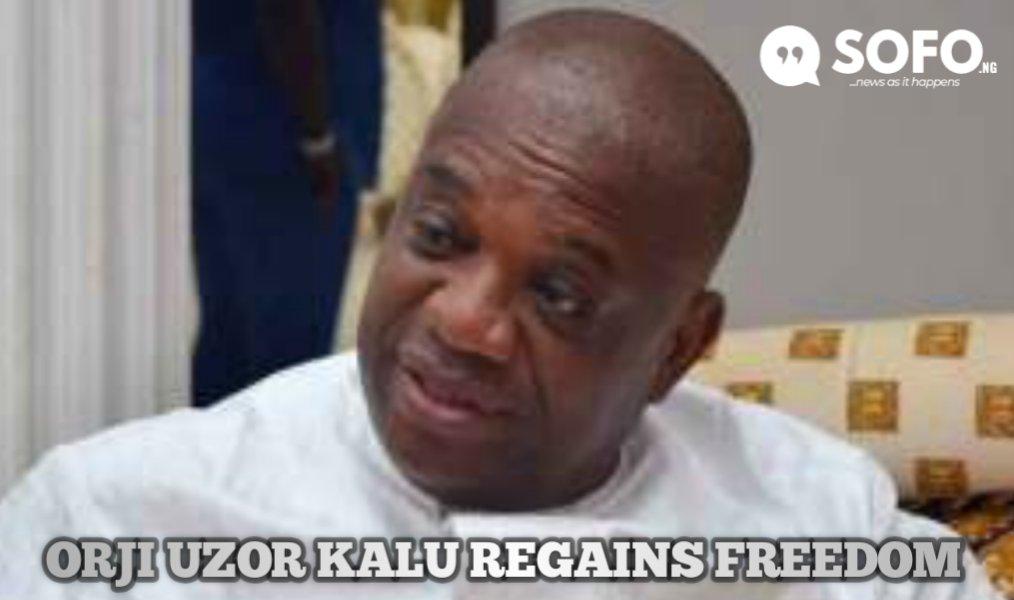 Orji Uzor Kalu released from Kuje Prison