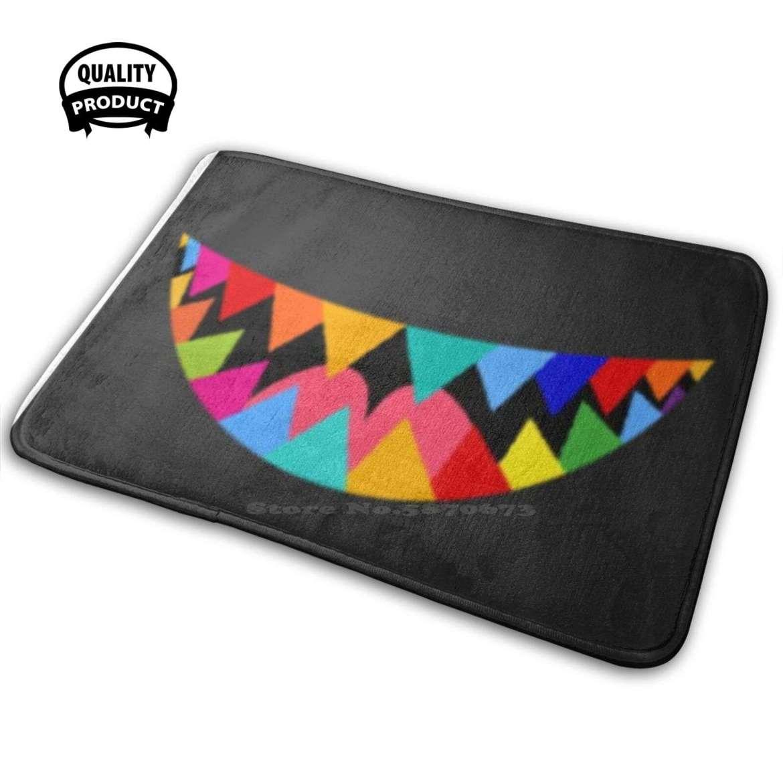 Lgbtq Rainbow Mouth Teeth Pride Gay Homosexual Lesbian . Comfortable Door Mat Rug Carpet Cushion Rainbow Teeth Colorful Taste