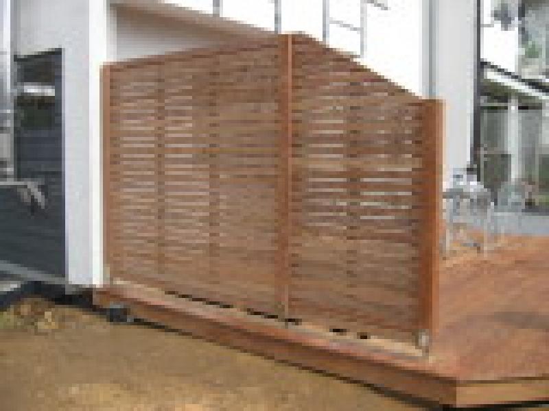 befestigung sichtschutz terrasse » terrassenholz,
