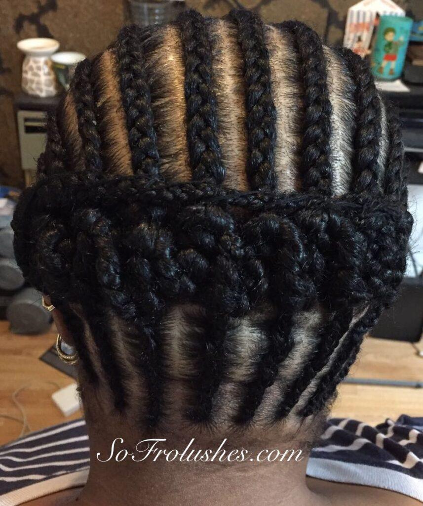 Crochet Twist canerow cornwow braid pattern