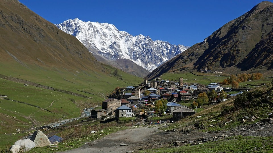 Ushguli village in Upper Svaneti, Georgia