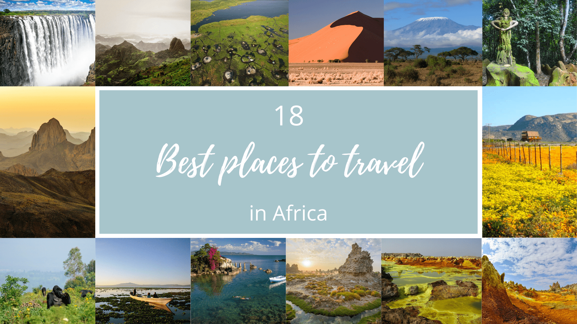 Best places to travel in Africa