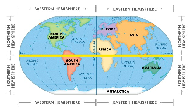 which hemisphere do you live in