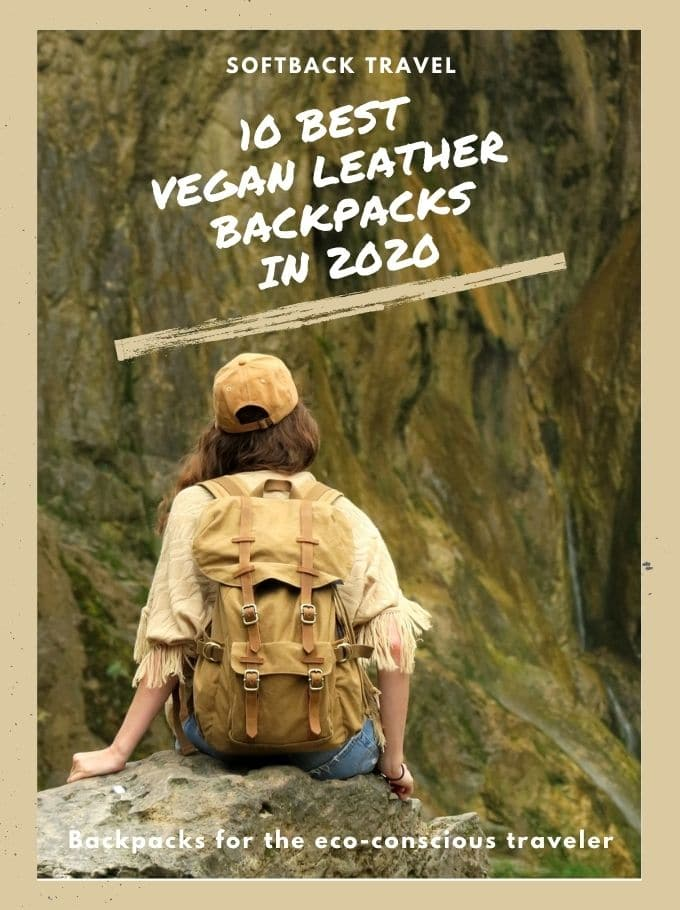 Vegan leather backpacks