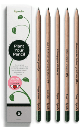 eco-friendly gift: plantable pencils