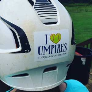 softball is for girls helmet sticker