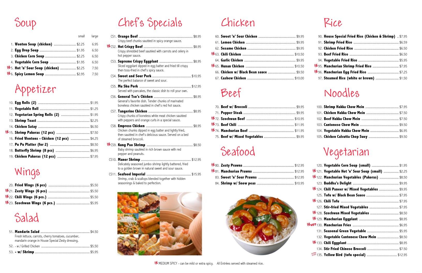 Restaurant Menus Sample Ideal Vistalist Co