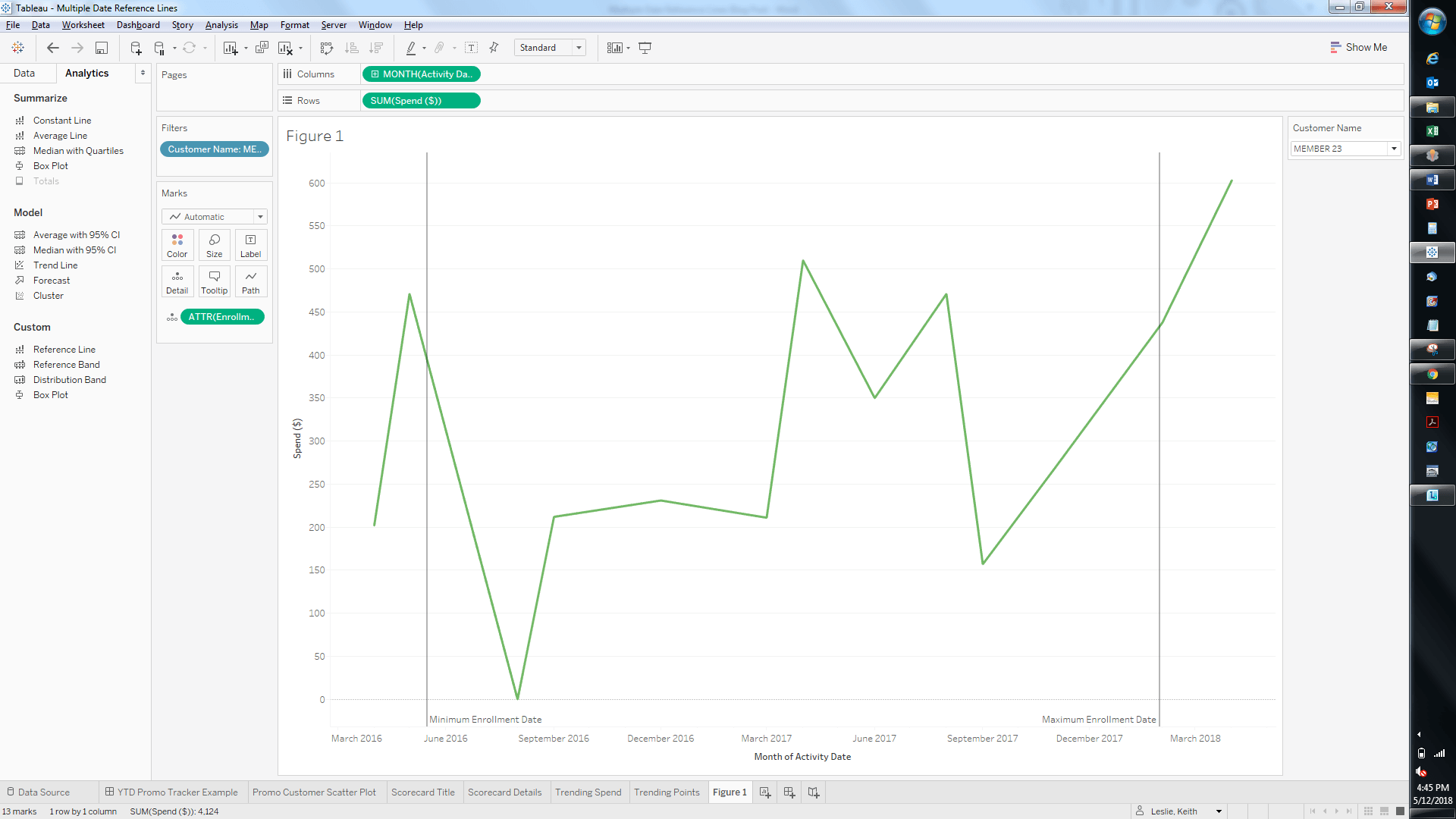 Tableau Tips Amp Tricks Adding Multiple Dynamic Reference Lines To A Continuous Line Chart