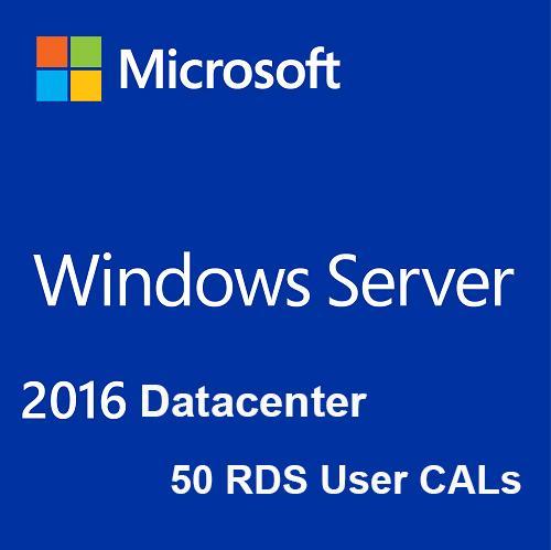 Buy Microsoft Windows Server 2016 Datacenter + 50 RDS User CALs