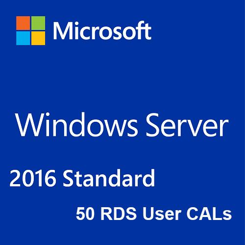 Buy Microsoft Windows Server 2016 Standard + 50 RDS User CALs