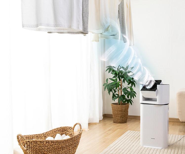 サーキュレーター衣類乾燥除湿機 ホワイト IJD-I50
