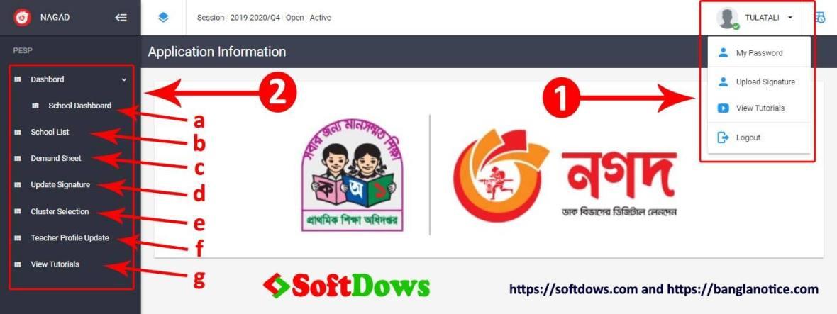 PESP NAGAD Upobritti Software Dashboard,3 Link to Upload Primary Stipends Data on Pesp Mynagad - The Best Way