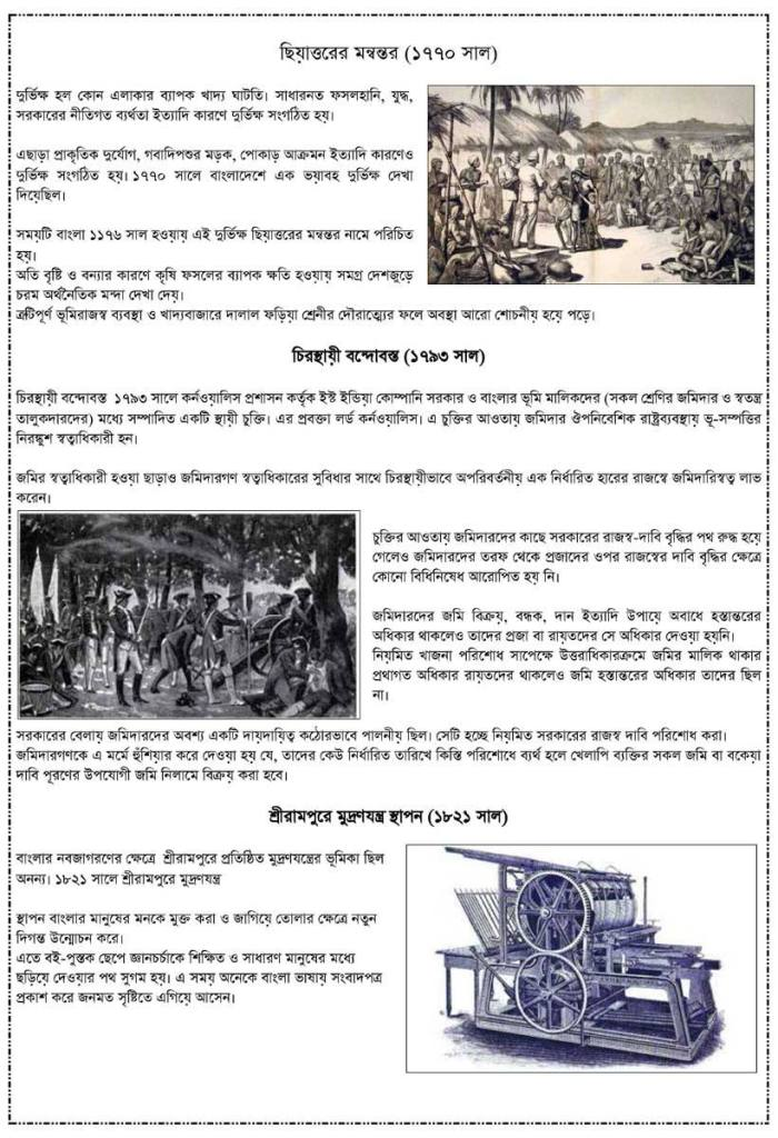 Class 8 Assignment Bangladesh and Global Studies 2nd Week Answer Part 2