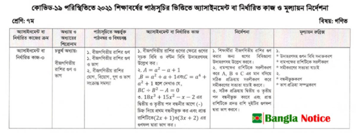 Class 7 Assignment 13th week Answer 2021