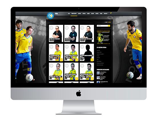 Uno de nuestros diseños web más deportivos y ágiles, la web del FSCA