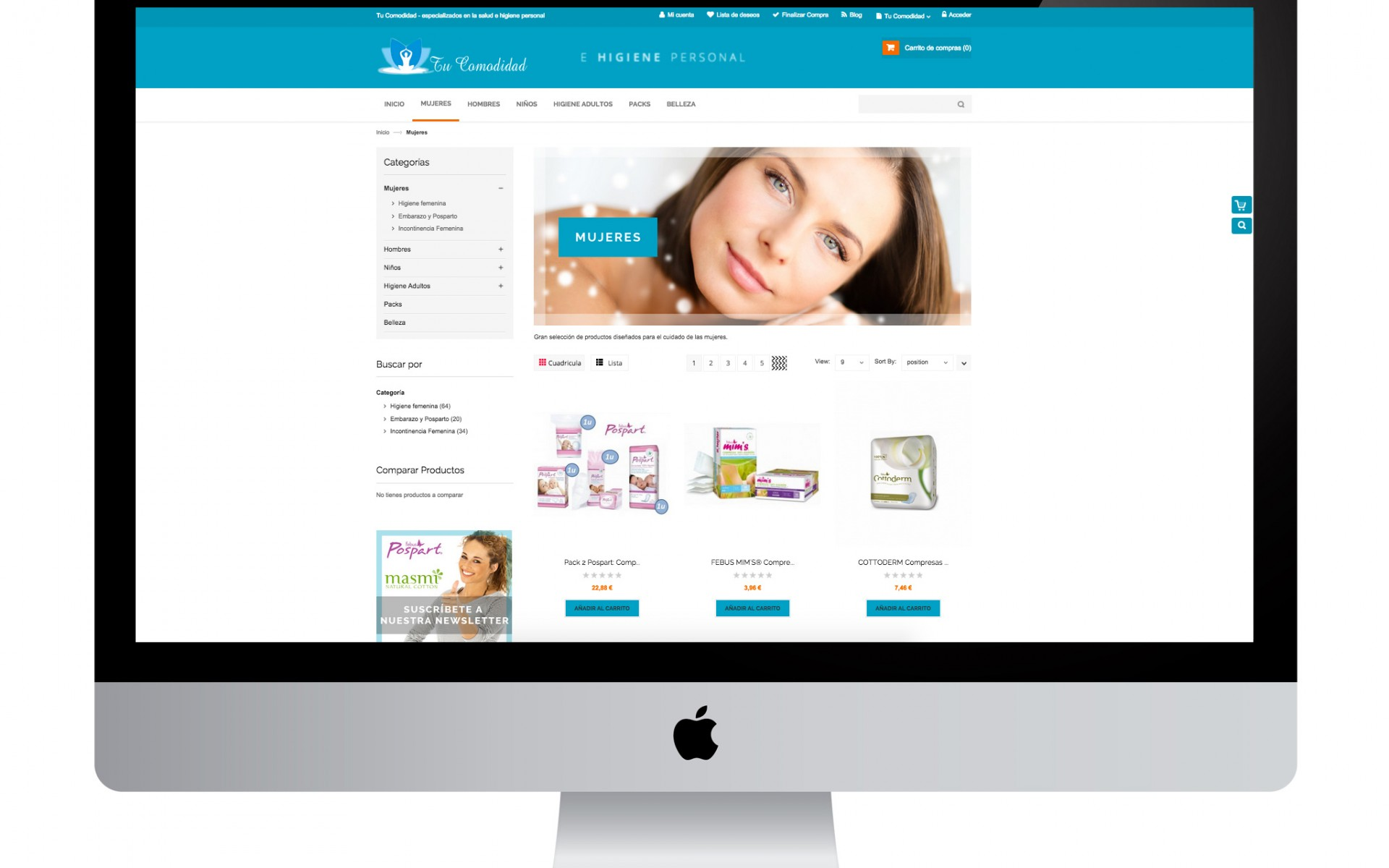 Diseño gráfico y web con magento realizado por agencia de marketing online Softdream
