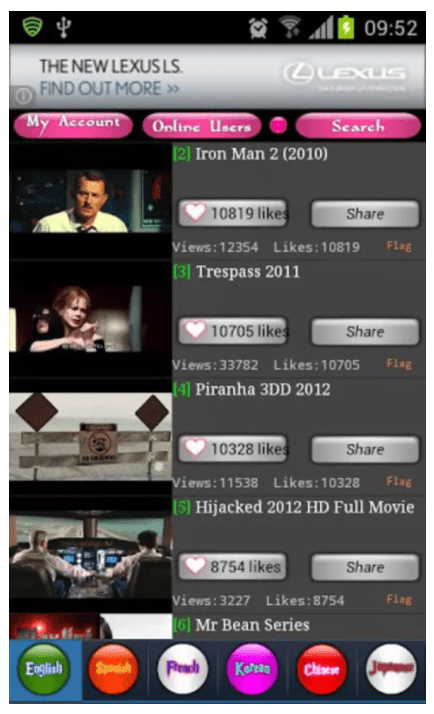 MovieTube for Android