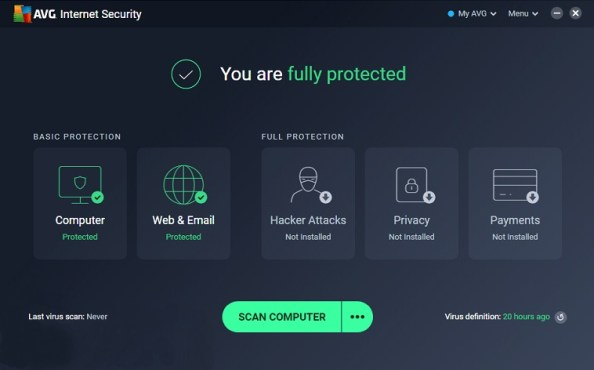 AVG Internet Security Free License Key 2020